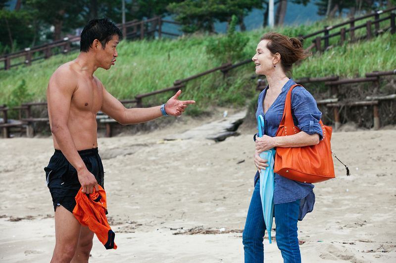 In-another-country-movie-review-isabelle-huppert-yoo-jun-sang